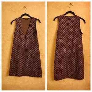 Zara V-Neck Circle Print Dress